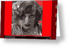 Film Homage Joan Crawford Louis Milestone Rain 1932 Collage Color Added 2010 Greeting Card