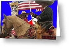 Film Homage Ride Vaquero 1953 1 Hispanic Riders Rodeo Parade Tucson Az 2002-2008 Greeting Card