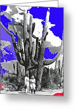 Film Homage Victor Fleming Jean Harlow Bombshell 1933 Saguaro Nat'l Monument Tucson 2008 Greeting Card