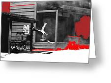 Film Noir Charles Bronson Death Wish 1974 Stunt Man Old Tucson Arizona 1968 Color Added 2012 Greeting Card