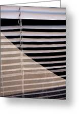 Film Noir Double Indemnity 2 1944 Broken Glass Window Venetian Blinds Casa Grande Arizona 2004 Greeting Card