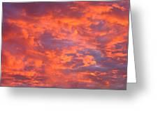 Film Noir Homage Leave Her To Heaven Number 1 Fiery Clouds Casa Grande Arizona 2005 Greeting Card