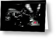 Film Noir Tom Neal Ann Savage Edgar Ulmer Detour 1945 Screen Capture Color Added 2012 Greeting Card