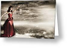Fine Art Photo Of A Beautiful Winter Fashion Woman Greeting Card