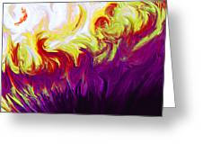 Fire Greeting Card by Tanya Jacobson-Smith