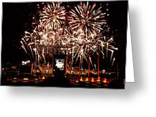 Fireworks At Kauffman Stadium Greeting Card