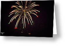 Fireworks In Neon Greeting Card