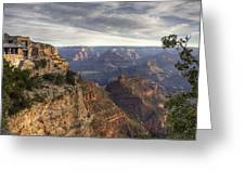 First Light At The Canyon Greeting Card