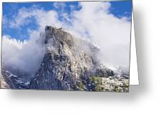 First Snow Of The Season In Yosemite Greeting Card