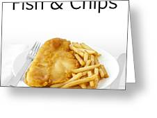 Fish And Chips Greeting Card by Colin and Linda McKie