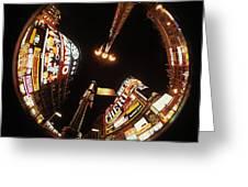 Fish Eye Photo Of Picadilly Circus Greeting Card