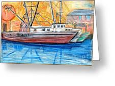 Fishing Trawler Greeting Card