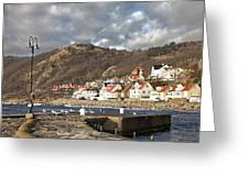 Fishing Village Of Molle In Sweden Greeting Card