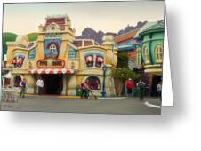 Five And Dime Disneyland Toontown Signage Greeting Card