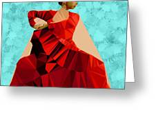 Flamenco Dancer In Spain Greeting Card