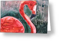 Flamingo Icon Greeting Card