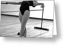 Flexibility Bw Greeting Card
