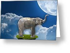 Flight Of The Elephant Greeting Card
