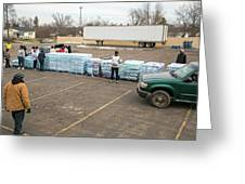 Flint Bottled Drinking Water Distribution Greeting Card