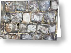 Flint Stone Wall Greeting Card