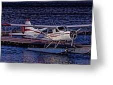 Float Plane Dock Greeting Card