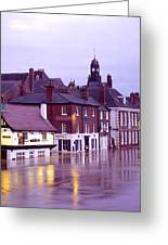 Flooded Buildings Greeting Card