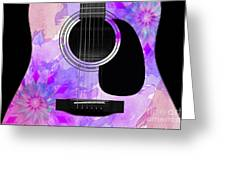 Floral Abstract Guitar 17 Greeting Card