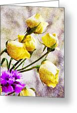 Floral Art Iv Greeting Card
