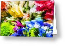 Floral Art X Greeting Card