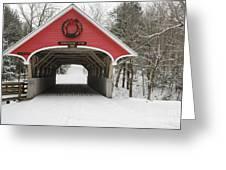 Flume Covered Bridge - White Mountains New Hampshire Usa Greeting Card