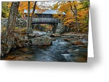 Flume Gorge Covered Bridge Greeting Card