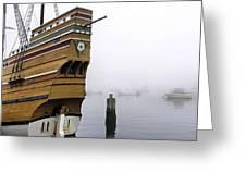 Foggy Harbor Greeting Card