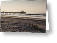 Folly Beach Morning Greeting Card