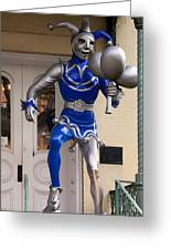 Folly Statue At The Mardi Gras Museum - Mobile Alabama Greeting Card