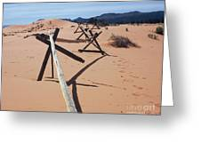 Footprints In Sand Greeting Card