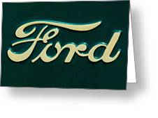 Ford Emblem Greeting Card