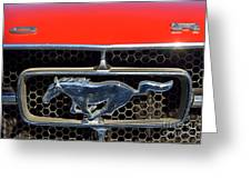 Ford Mustang Badge Greeting Card