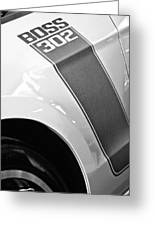 Ford Mustang Boss 302 Emblem Greeting Card