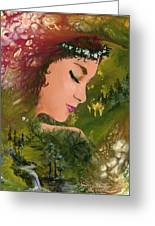 Forest Girl Greeting Card