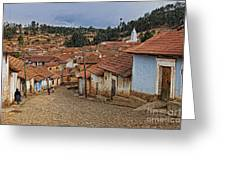 forgotten village Totora Greeting Card