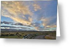 Fort Collins Sunset Greeting Card
