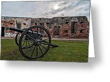 Fort Pike Cannon Greeting Card