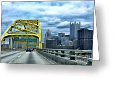 Fort Pitt Bridge And Downtown Pittsburgh Greeting Card
