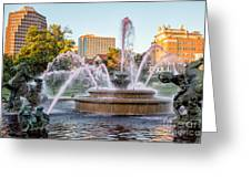 Fountain In The Pink Greeting Card