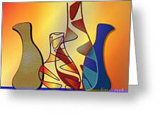 Four Little Jugs Greeting Card