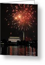 Fourth Of July Fireworks At Washington Dc Greeting Card