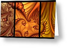 Fractal Triptychon Greeting Card