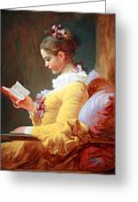 Fragonard's Young Girl Reading Greeting Card