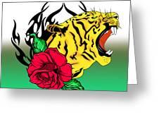 Freak Tiger  Greeting Card