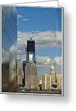 Freedom Tower Greeting Card by Wayne Gill